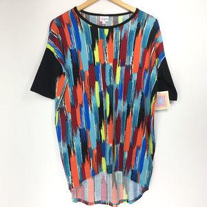 Lularoe XXS Shirt Irma Multicolored Paint